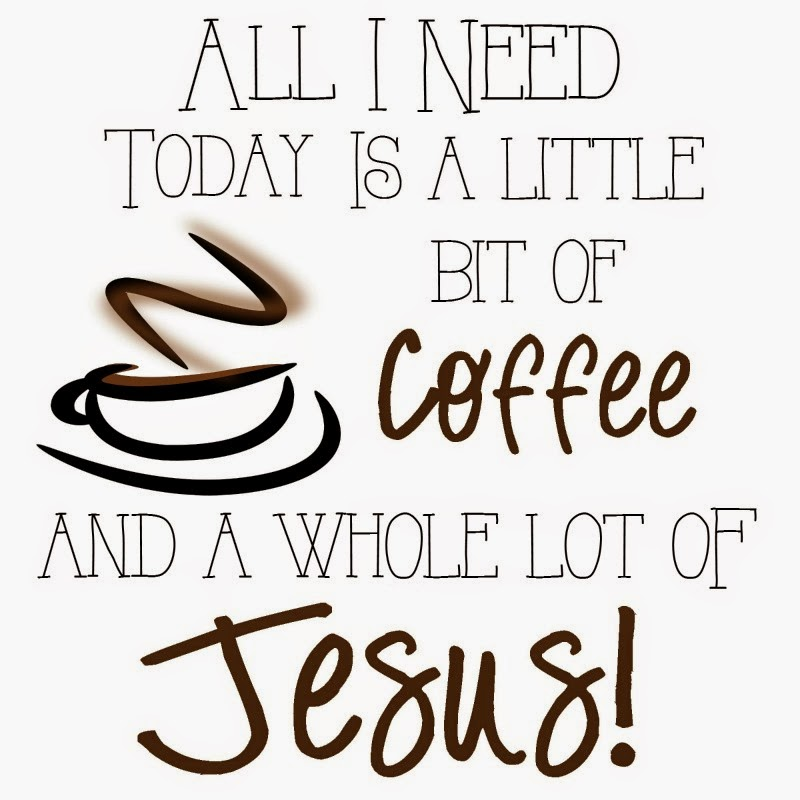 All I Need is a Little Bit of Coffee and a Whole Lot of Jesus - Round Up of Free Coffee-Nook Printables, Plus a Rental-Friendly Nails-Free Hack for Hanging Them! via Devastate Boredom