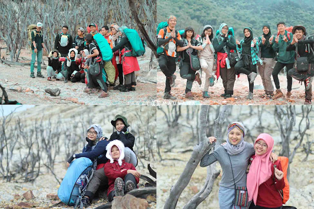 foto pengalaman pertama naik gunung bareng komunitas backpacker jakarta serta hal yang menarik di gunung papandayan