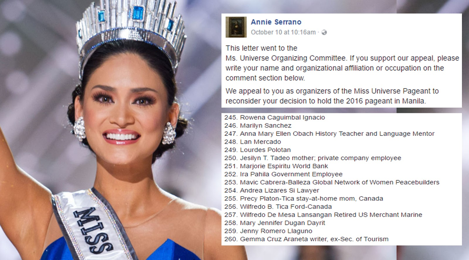 LOOK: Complete list of people who signed the 'Stop Miss U