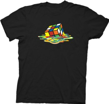 Melting Rubik's Cube T Shirt Big Bang Theory