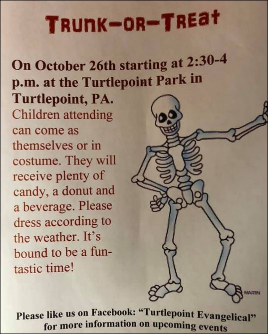 10-26 Trunk or Treat, Turtlepoint