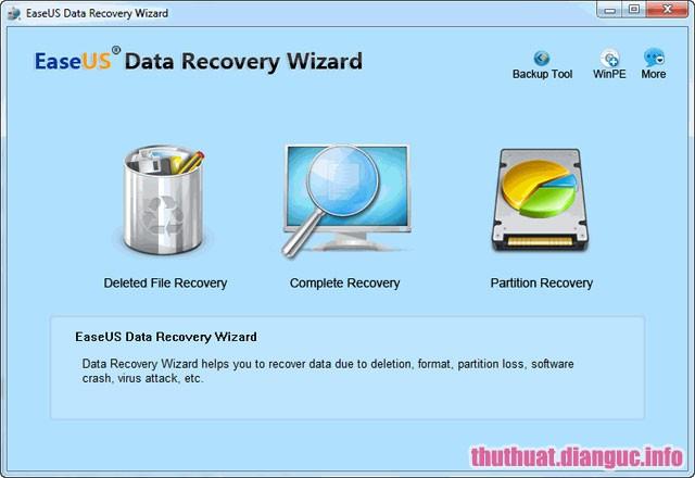 EaseUS Data Recovery Wizard Professional 11.6 Full Crack – Phục Hồi Dữ Liệu Đã Bị Xóa