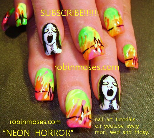 Nail Art By Robin Moses Halloween Nails Scary Movie Nails