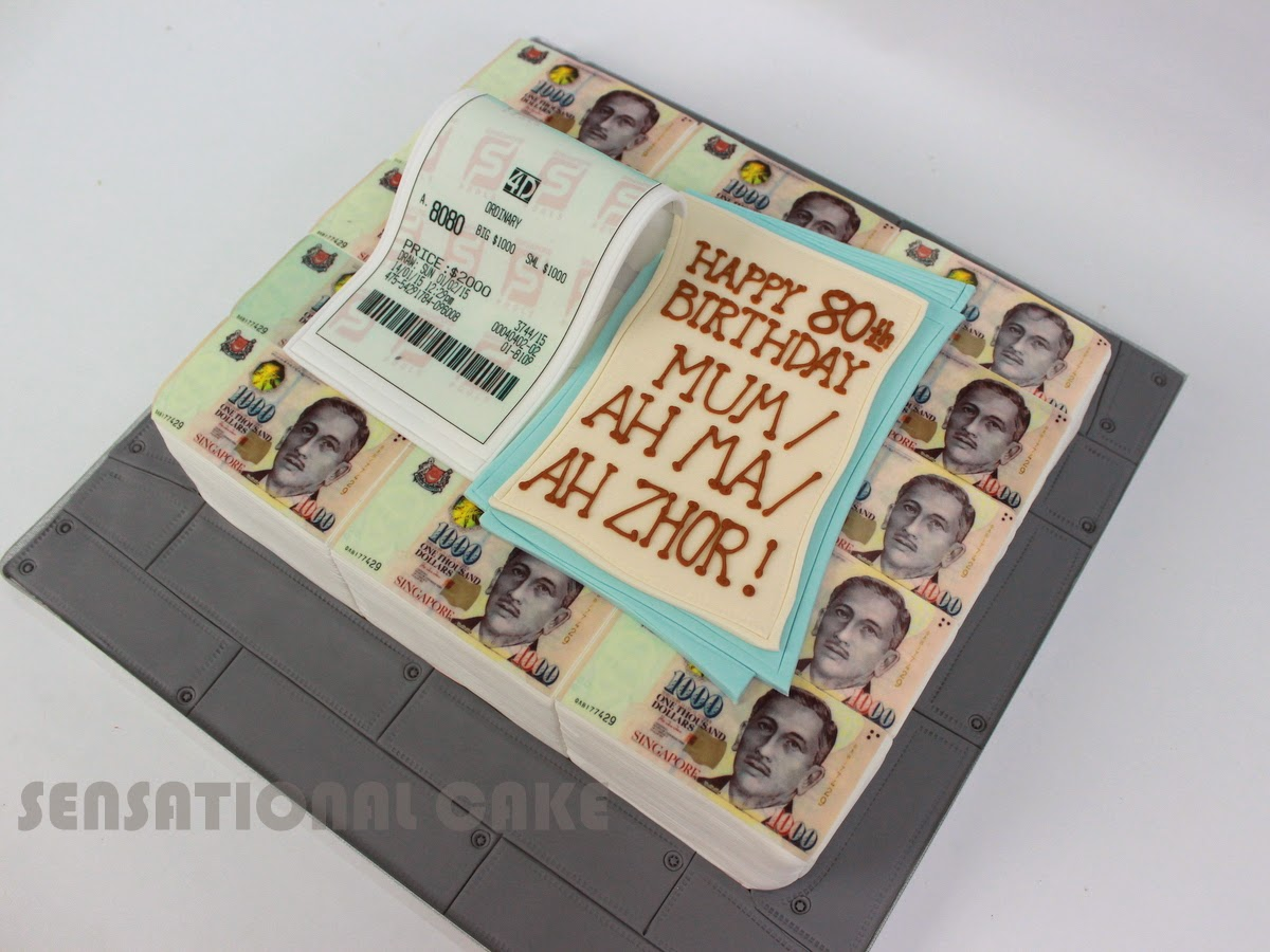 The Sensational Cakes Toto 4d Winning Bet Fortune Cake