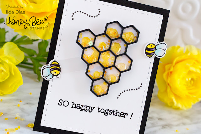 So Happy Together Interactive Spinner/Shaker Friendship Card ft. Honey Bee Stamps