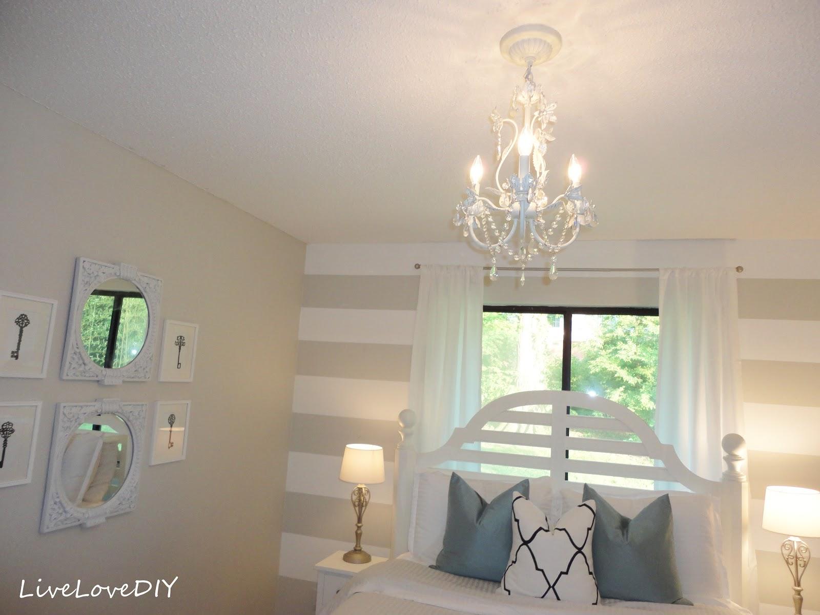LiveLoveDIY: DIY Striped Wall Guest Bedroom Makeover