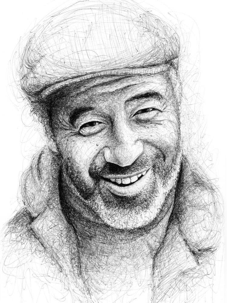 11-Steve-Cabellero-Paul-Kobriger-Ballpoint-Pen-Portrait-Drawings-Stippling-and-Scribble-www-designstack-co
