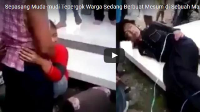 Astaga...!!! Sepasang Kekasih Tepergok Warga Sedang Berbuat Mesum di Dalam Masjid