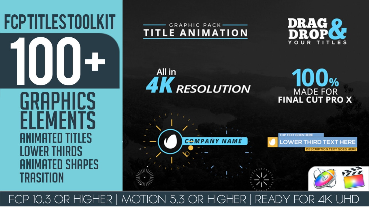 FCP Titles Toollkit - Final Cut Pro Templates | Motionarray