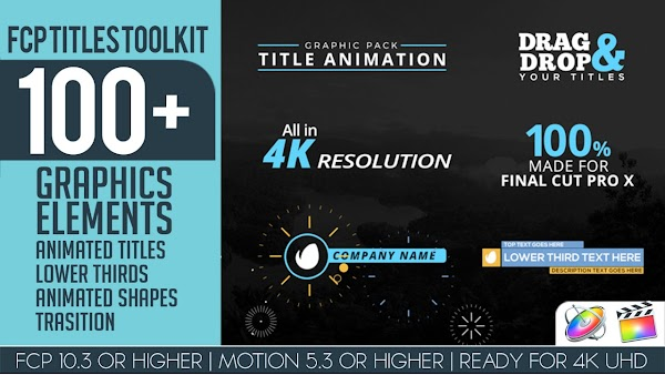 FCP Titles Toollkit - Final Cut Pro Templates | Motionarray 226250 - Free download