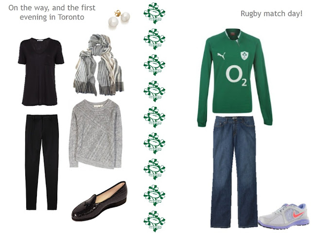 In-transit outfit to Toronto, and what to wear to a rugby match