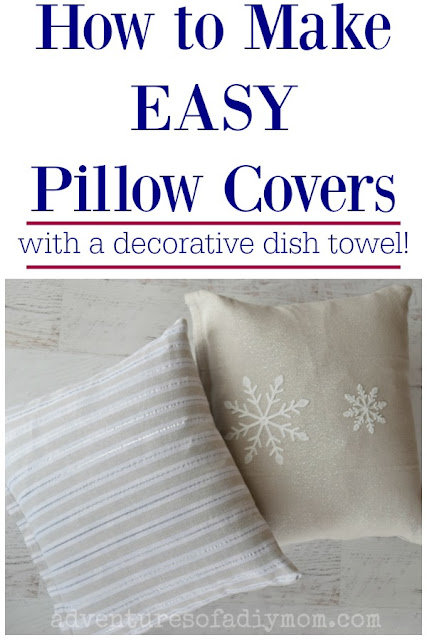 How to Make Easy Pillow Covers with a Decorative Dish Towel
