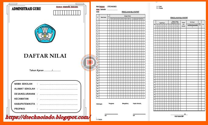 Format Buku Daftar Nilai Kelas 1 Sd Kurikulum 2013 Dtechnoindo
