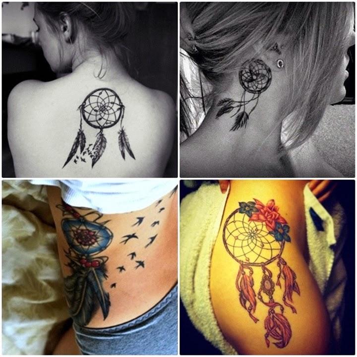 Tatuagem Filtro Dos Sonhos Nas Costas