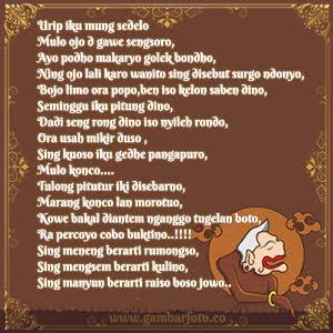 DP BBM Kata Bijak Bahasa Jawa dan Artinya