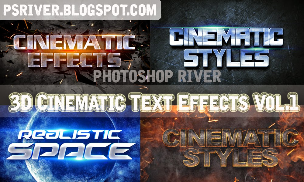 3D Cinematic Text Effects - Free Download ~ Photoshop River