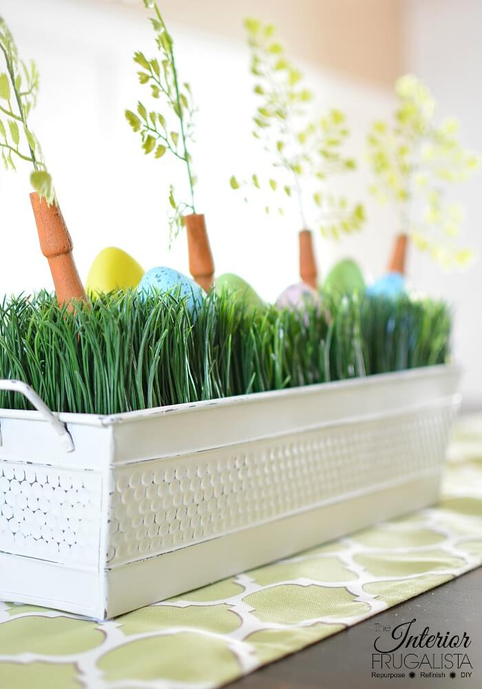 Easter Centerpiece Box Painted White