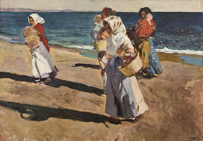 Pescadoras. Joaquín Sorolla. Exposición obras Museo Nacional La Habana en Valencia