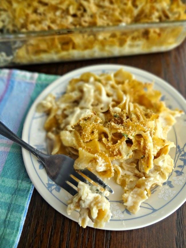 Chicken Noodle Casserole {from scratch}