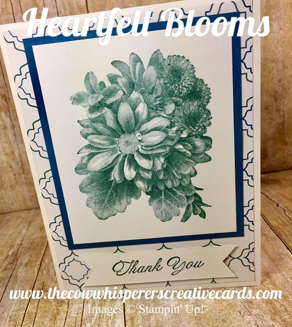 Card, Heartfelt Blooms, Sale-A-Bration, Clean & Simple