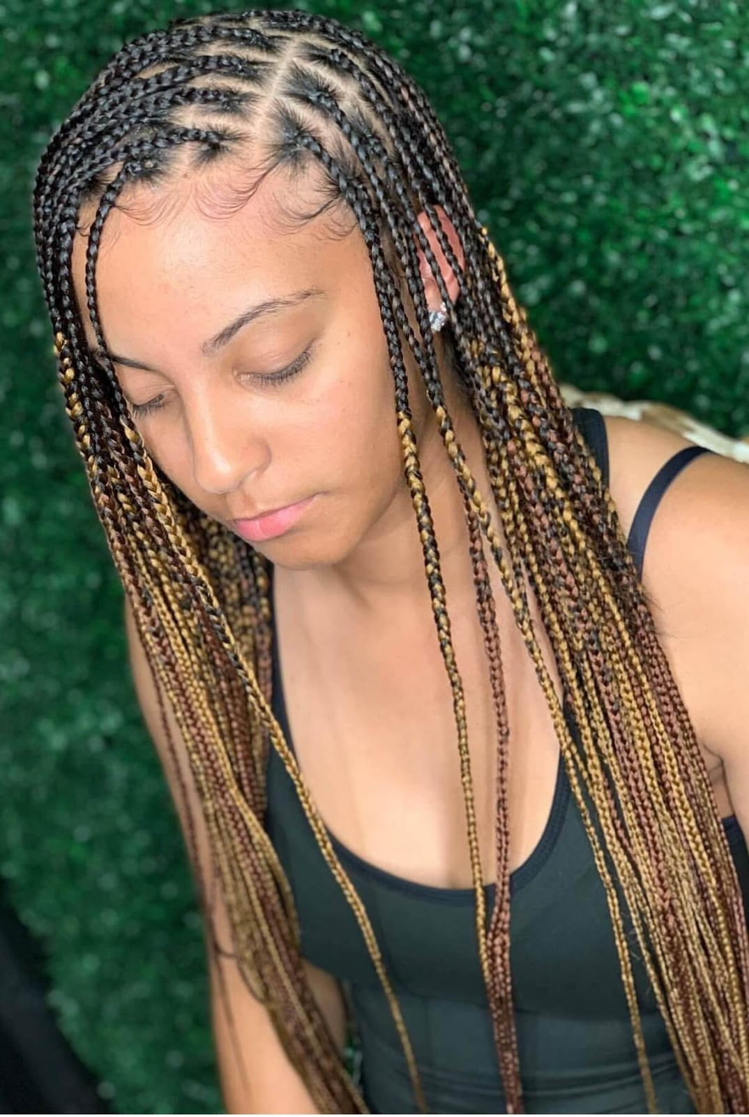 20 Latest Knotless Box Braids Styles Ponytails For African ...