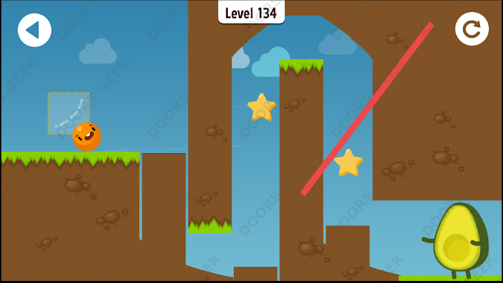 Where's My Avocado? Level 134 Solution, Cheats, Walkthrough, 3 Stars for Android, iPhone, iPad and iPod