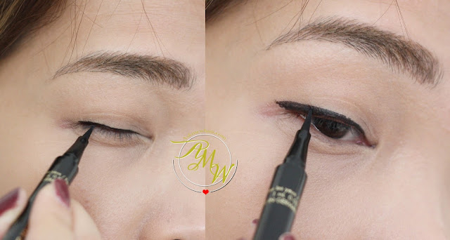 a photo of how to use Guerlain L'ART DU TRAIT Precision Felt Eyeliner Review