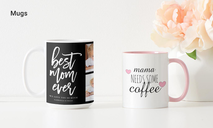 Top Mugs for Mom - Handwritten Script Best Mom Ever Photo Collage Mug, Mug with coffee quote