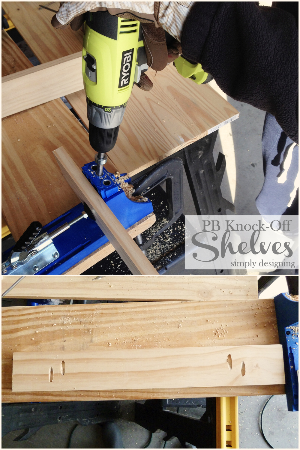 Knock Off No Sew Dining Chairs: DIY Knock-Off Shelves