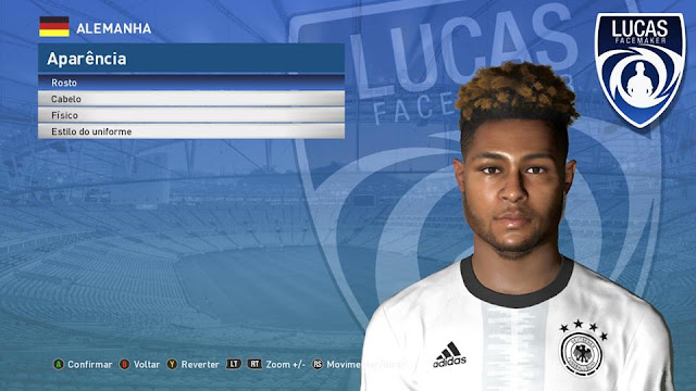 PES 2017 Gnabry Face by Lucas Facemaker