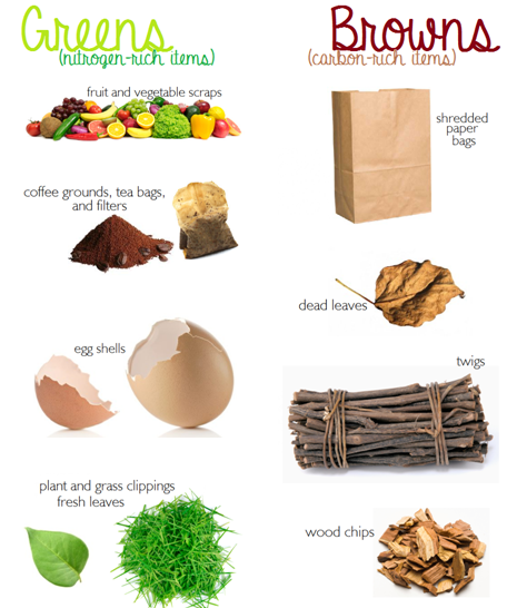 4be43be07612e Greens vs. Browns: The Balance of Composting | Composting Chic