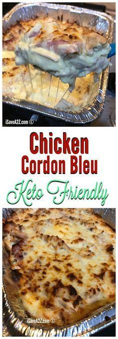 Keto Chicken Cordon Bleu Casserole