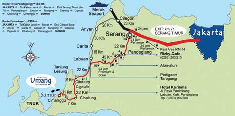 Lokasi Pulau Umang Banten