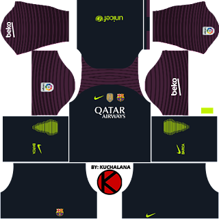 Barcelona kits 2016/2017 - Dream League Soccer 2016 & FTS15