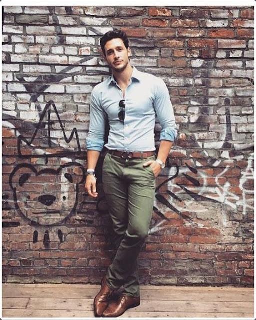 look masculino calça verde