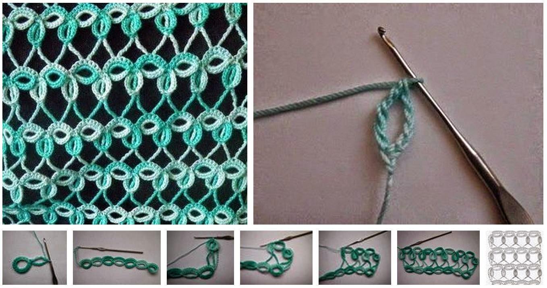 Como tejer punto ojal al crochet