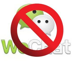 Menonaktifkan akun wechat android