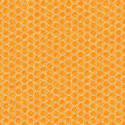 """Honeycomb"", Orange Background Pattern"