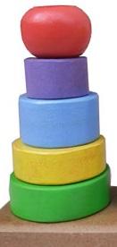 mainan edukasi anak menara bulat kayu