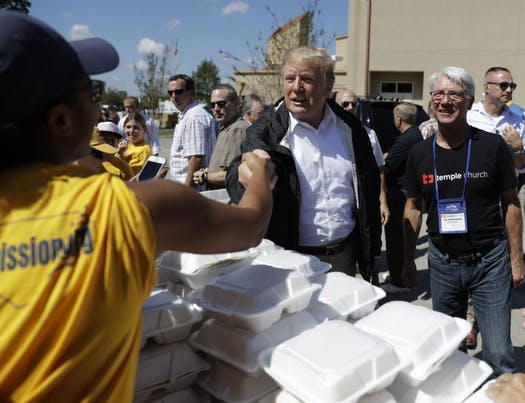 Trump: 'We will be 100 percent' with storm victims