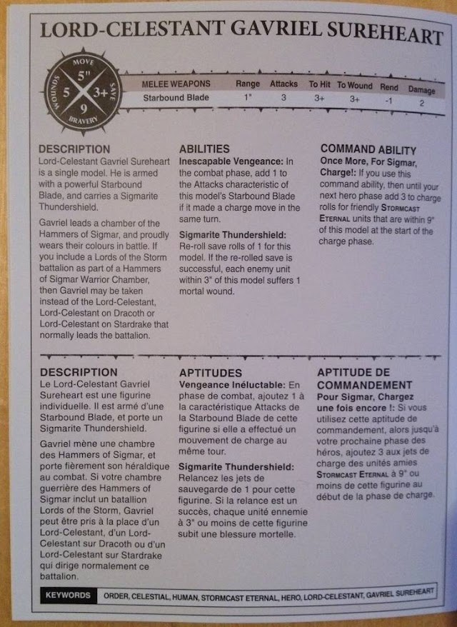 Lord Celestant Gavriel Sureheart Rules