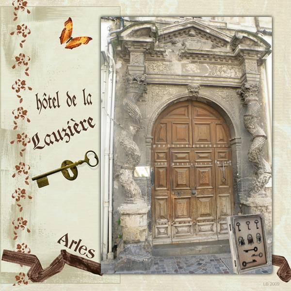 Laurette scrap arles h tel de la lauzi re - Hotel porte de camargue arles provence ...