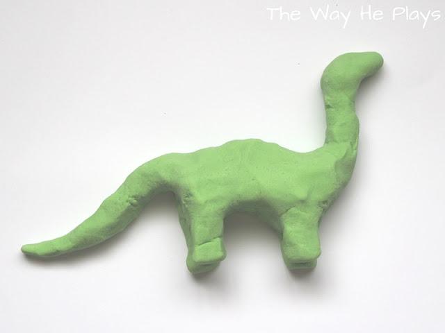 Arlo the dinosaur made from salt dough