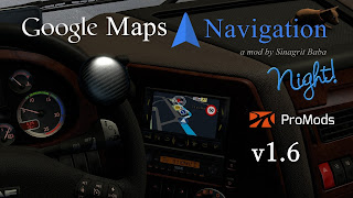 ets2 google maps navigation for promods, ets2 google maps navigation nigh version for promods, ets2 real gps, ets2 real navigation, ets2works, promods 2.30, sinagrit baba's mods, sinagritbabaslider, ets2 mods, ets 2 google maps navigation night version for ProMods 2.31