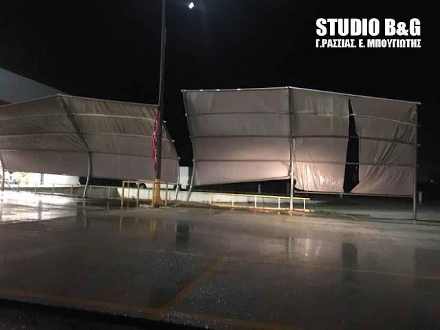 Τεράστιες οι καταστροφές από την βραδυνή καταιγίδα στην Αργολίδα