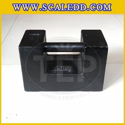 ตุ้มน้ำหนักเหล็กหล่อมาตรฐาน20กิโลกรัม (ตุ้มจีน) ตุ้มน้ำหนักสำหรับสอบเทียบเครื่องชั่งน้ำหนักดิจิตอล