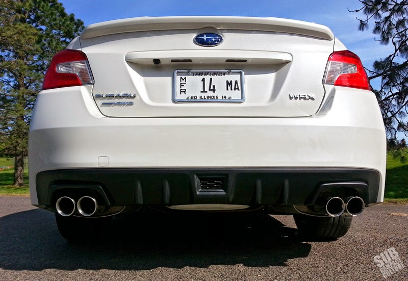 2015 WRX rear exhaust