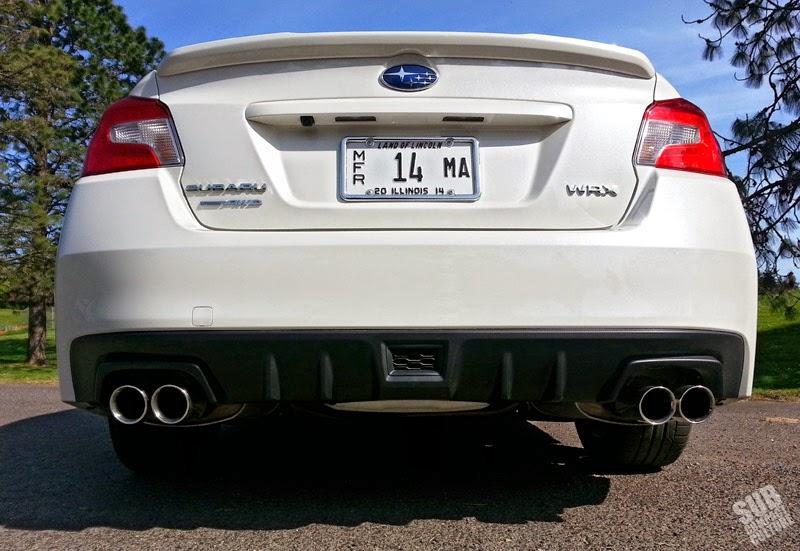 2015 WRX rear exhaust