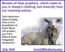 WOLVES IN SHEEP'S CLOTHING IN THESE LAST DAYS BEFORE THE RAPTURE!