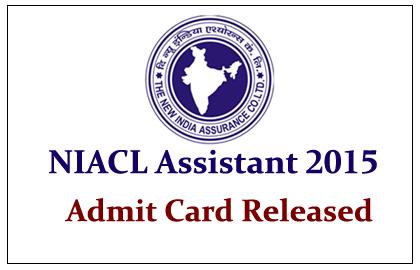 NIACL Recruitment 2015